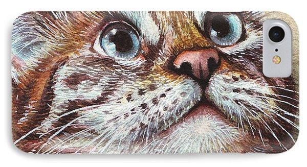 Surprised Kitty IPhone Case by Olga Shvartsur