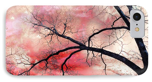 Surreal Fantasy Gothic Nature Tree Sky Landscape - Fantasy Nature IPhone Case by Kathy Fornal