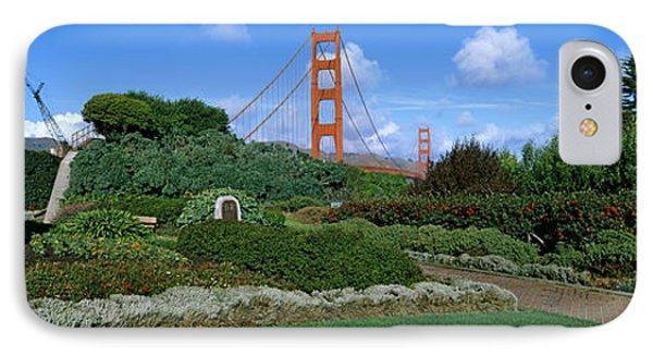 Suspension Bridge, Golden Gate Bridge IPhone Case by Panoramic Images