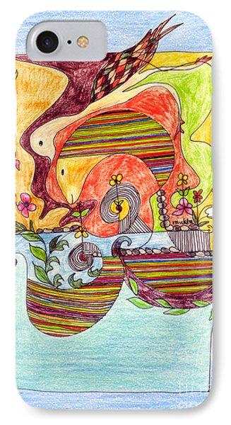 Sustainable Fish Pond Phone Case by Mukta Gupta