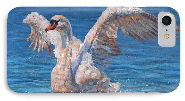 Swan Phone Case by David Stribbling