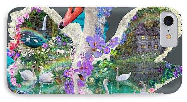 Swan Day Dream Phone Case by Alixandra Mullins
