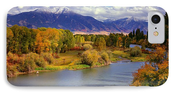 Swan Valley Autumn IPhone Case by Leland D Howard