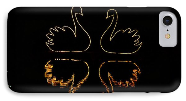 Swans Lights IPhone Case by Gloria Pasko