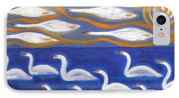 Swans Phone Case by Patrick J Murphy