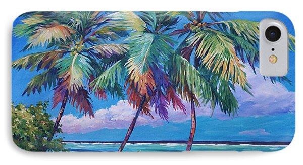 Swaying Palms  Phone Case by John Clark