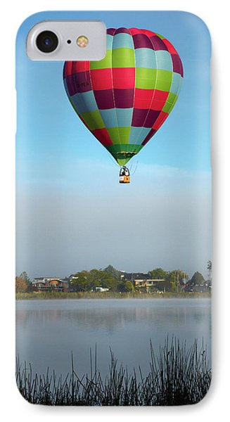 Sweat Pea Hot Air Balloon, Balloons IPhone Case by David Wall