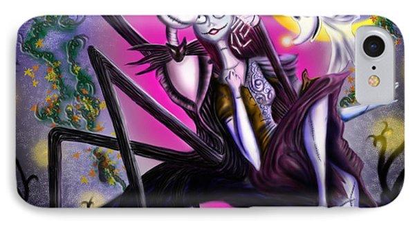 Sweet Loving Dreams In Halloween Night IPhone Case by Alessandro Della Pietra