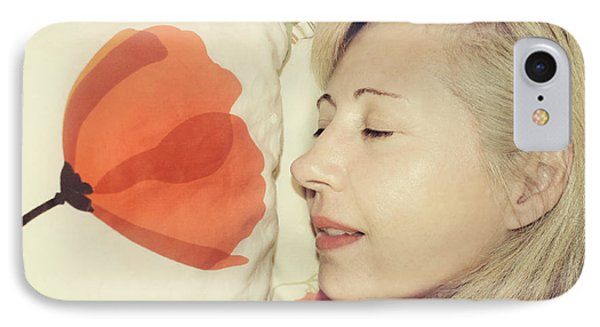 Sweet Poppy Dreams IPhone Case by Laurie Search