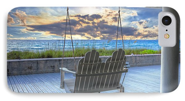 Swing At The Beach IPhone Case by Debra and Dave Vanderlaan