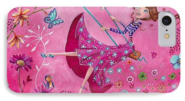 Swing Girl IPhone Case by Caroline Bonne-Muller