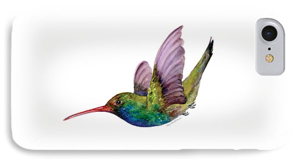 Swooping Broad Billed Hummingbird IPhone Case by Amy Kirkpatrick
