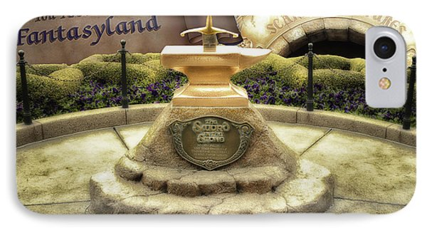 Sword In The Stone Fantasyland Disneyland IPhone Case by Thomas Woolworth