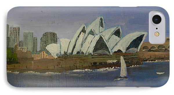 Sydney Opera House Phone Case by Pamela  Meredith