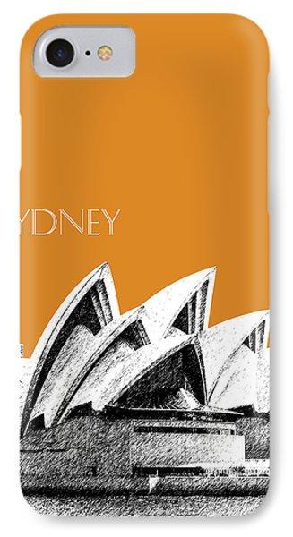 Sydney Skyline 3  Opera House - Dark Orange IPhone Case by DB Artist