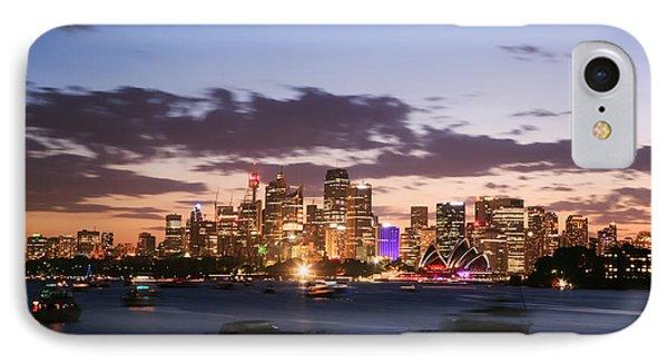 Sydney Skyline At Dusk Australia IPhone Case by Matteo Colombo