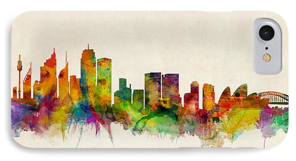Sydney Skyline IPhone Case by Michael Tompsett