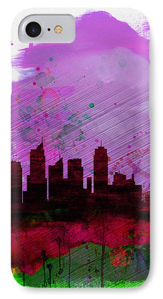 Sydney Watercolor Skyline 2 IPhone Case by Naxart Studio