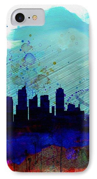 Sydney Watercolor Skyline IPhone Case by Naxart Studio