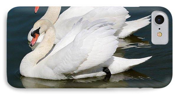 Synchronized Swans Phone Case by Carol Groenen
