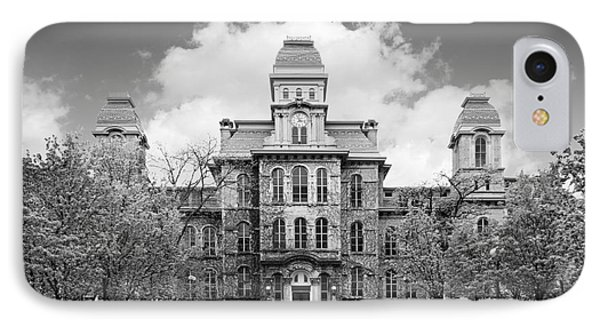 Syracuse University Hall Of Languages IPhone Case by University Icons