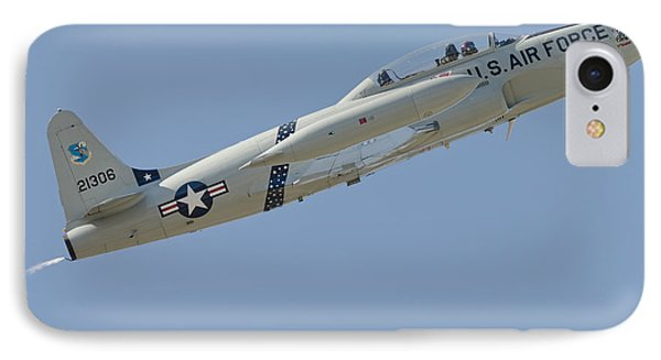 T-33 Shooting Star Flying IPhone Case by Phil Wallick