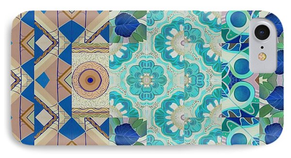T J O D Mandala Series Puzzle 5-3 Inverted IPhone Case by Helena Tiainen