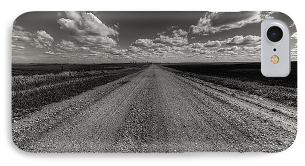 Take A Back Road Bnw Version IPhone Case by Aaron J Groen