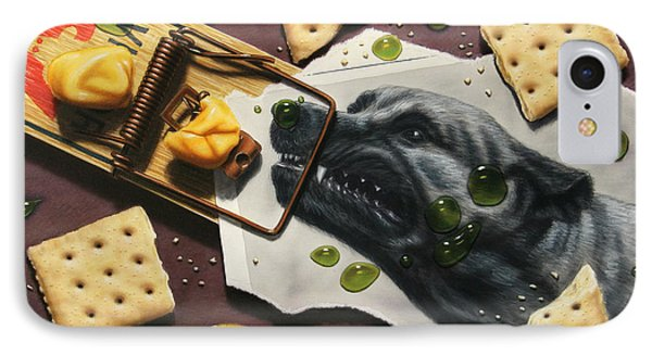 Taking The Bait Phone Case by James W Johnson