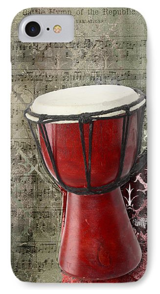 Tam Tam Djembe - S02a IPhone Case by Variance Collections