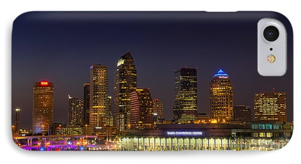 Tampa Lights At Dusk IPhone Case by Marvin Spates