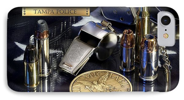 Tampa Police St Michael Phone Case by Gary Yost
