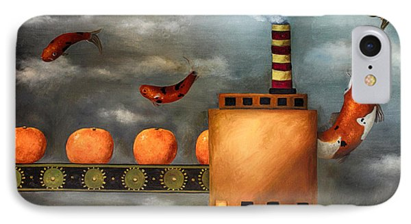 Tangerine Dream Edit 2 Phone Case by Leah Saulnier The Painting Maniac