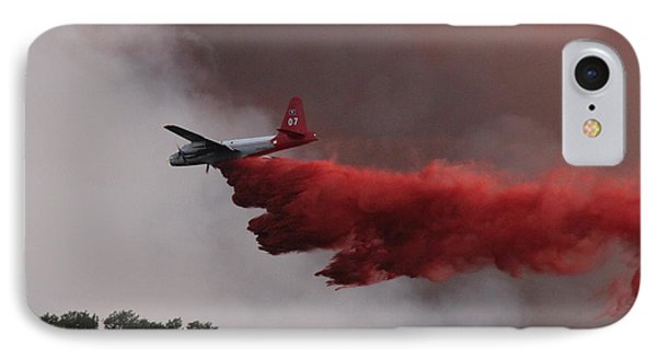 IPhone Case featuring the photograph Tanker 07 Drops On The Myrtle Fire by Bill Gabbert