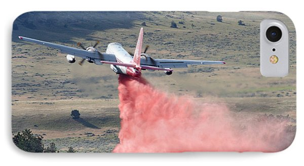 IPhone Case featuring the photograph Tanker 45 Dropping On Whoopup Fire by Bill Gabbert