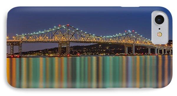 Tappan Zee Bridge Reflections Phone Case by Susan Candelario