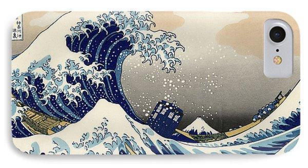 Tardis V Katsushika Hokusai Phone Case by GP Abrajano