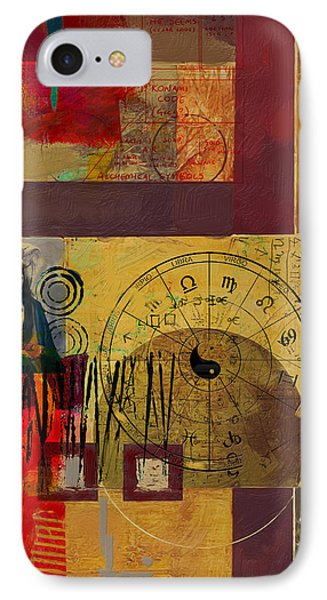 Tarot Card Abstract 003 IPhone Case by Corporate Art Task Force