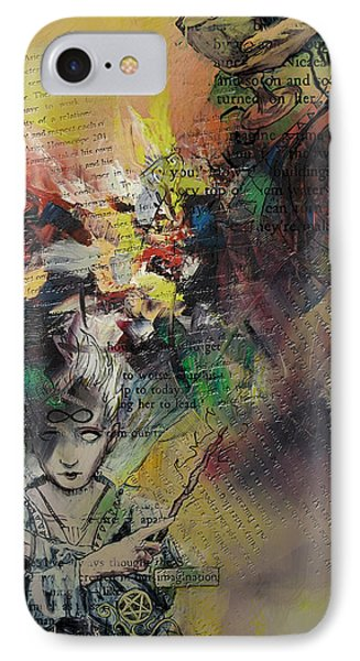 Tarot Card Abstract 005 IPhone Case by Corporate Art Task Force