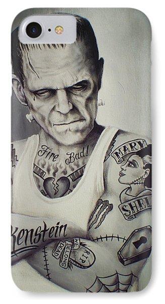 Tattooed Frankenstein By Mike Vanderhoof IPhone Case by Mike Vanderhoof