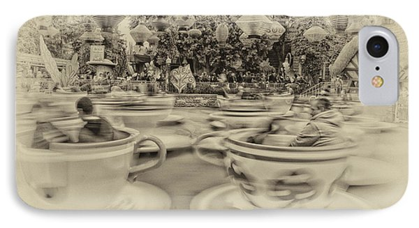 Tea Cup Ride Fantasyland Disneyland Heirloom IPhone Case by Thomas Woolworth