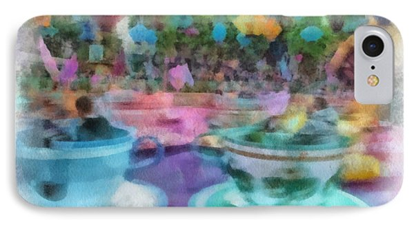 Tea Cup Ride Fantasyland Disneyland Pa 01 IPhone Case by Thomas Woolworth