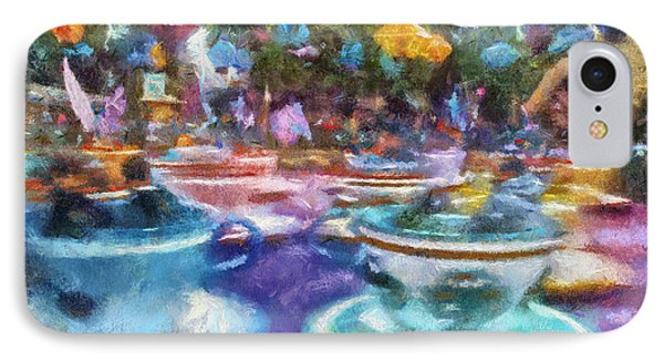 Tea Cup Ride Fantasyland Disneyland Pa 02 IPhone Case by Thomas Woolworth