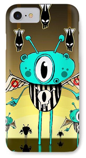 Team Alien IPhone Case by Johan Lilja