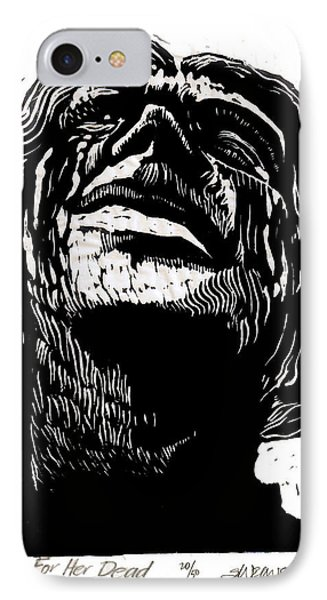 Tears For Her Dead IPhone Case by Seth Weaver