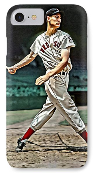 Ted Williams Painting IPhone Case by Florian Rodarte