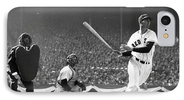 Ted Williams Slams One IPhone Case by Daniel Hagerman