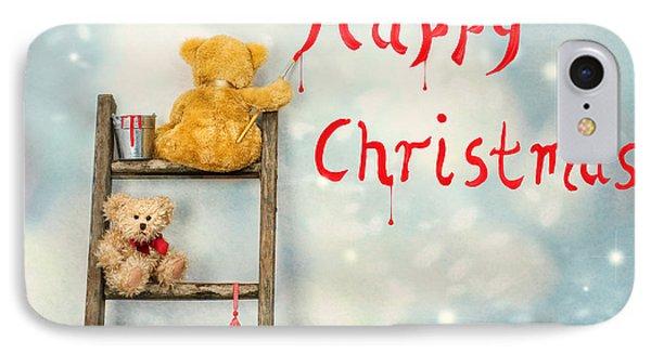 Teddy Bears At Christmas IPhone Case by Amanda Elwell