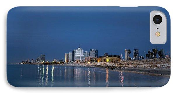 Tel Aviv The Blue Hour Phone Case by Ron Shoshani