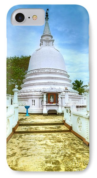 temple complex at the tropical island Sri Lanka Phone Case by Regina Koch